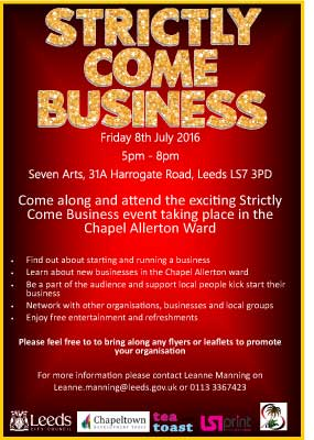 Strictly Come Business audience flyer